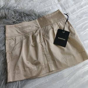 Bebe new satin mini skirt